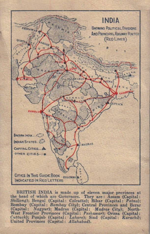 Red Cross Guide Book To India CBI Theater Of World War II - Map of united provinces india